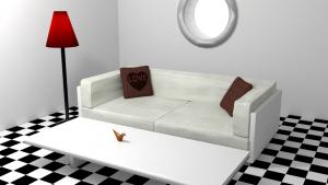 3d render of livingroom