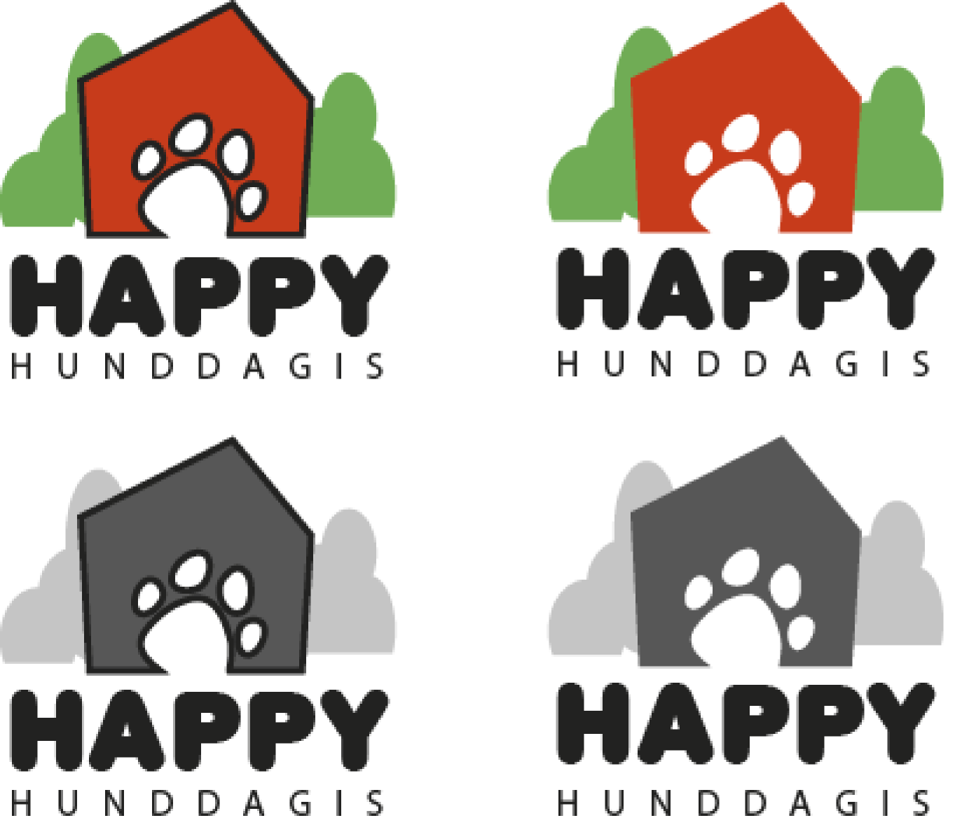 Happy Hunddagis Logos