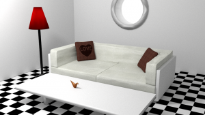 3d render of livingroom